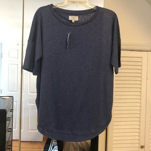 NWT Lou & Grey Linen Dolman Tee Mineral Blue Med
